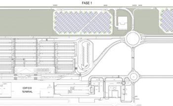 Planta general. Aparcamiento fotovoltaico del Aeropuerto Internacional Región de Murcia