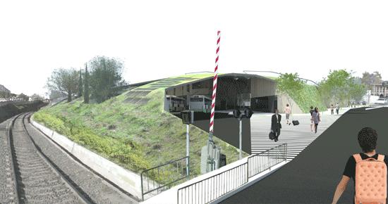 Estación de autobuses y biblioteca en Ronda
