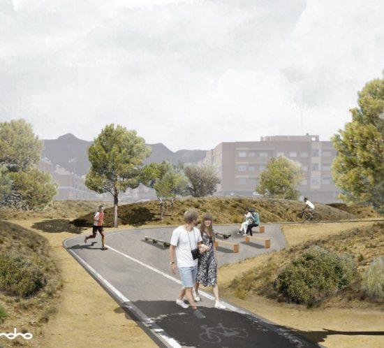 Ecoproyecta - Reactivación de solar abandonado para crear un espacio público, verde y deportivo